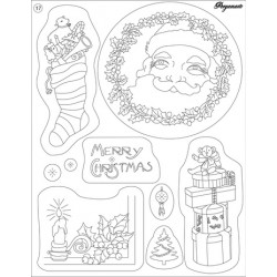 Pergamano Clear stamps Santa Claus & gifts (41917)