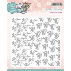 (YCEMB10002)Embossing Folder - Yvonne Creations - Smiles, Hugs a