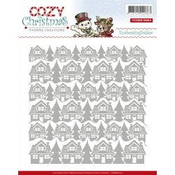 (YCEMB10004)Embossing Folder - Yvonne Creations - Cozy Christmas