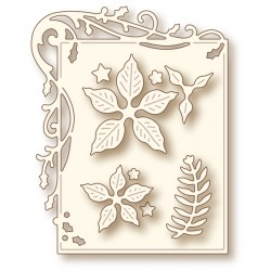 (SD0052)Wild Rose Studio`s Specialty die - Holly Frame and Poins