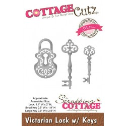 (CCE-257)Scrapping Cottage Victorian Lock w/ Keys (Elites)