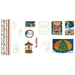 Pergamano Parchment paper Victorian Christmas Eve 5 s A4(62588)