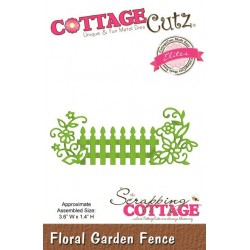 (CCE-241)Scrapping Cottage Floral Garden Fence (Elites)