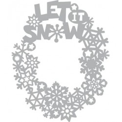 (470.802.042)Pronty Designs, A5 - Mask Stencil Let it snow