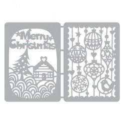 (470.802.041)Pronty Designs, 2 X A6 - Mask Stencil Christmas