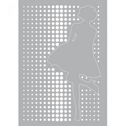 (470.802.024)Pronty Designs, 148 X 210 mm - Mask Stencil Dancing