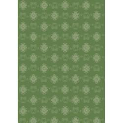 Pergamano Victorian ornaments green rosettes 1S (61833)