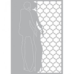 (470.802.020)Pronty Designs, 148 X 210 mm - Mask Stencil Fashion