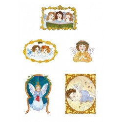 Pergamano Victorian Christmas angels 1S (61825)