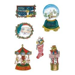 Pergamano Victorian Christmas eve Santa  1S (61823)