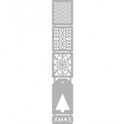 (470.804.008)Pronty Designs, 50 x 294mm - Mask Stencil Xmas