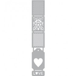 (470.804.009)Pronty Designs, 50 x 294mm - Mask Stencil Love