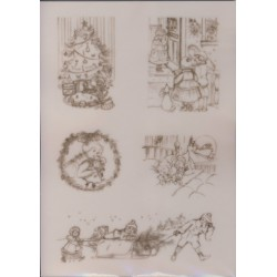 Pergamano Victorian Christmas angels, children 1S (61828)