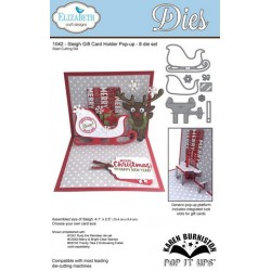 (SKU1042)Elizabeth Craft Design Die Sleigh Gift Card Holder