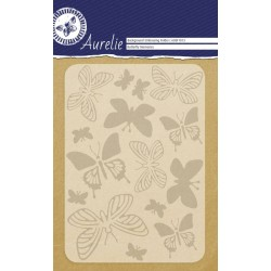 (AUEF1013)Aurelie Butterfly Memories Background Embossing Folder