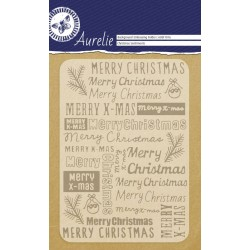 (AUEF1016)Aurelie Christmas Sentiments Background Embossing Fold