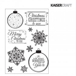 (CS237)Kaiser craft clear stamp Silver bells