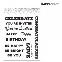 (CS234)Kaiser craft clear stamp A touch of gold
