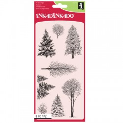 (60-31297)Inkadinkado clear stamp woodland wonderland