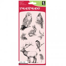 (60-31296)Inkadinkado clear stamp winter wildlife