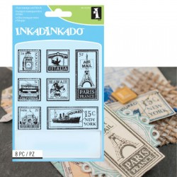 (60-31259)Inkadinkado clear stamp travel postage