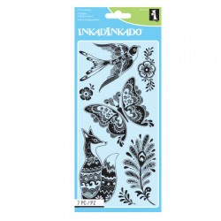 (60-31258)Inkadinkado clear stamp fancy fauna