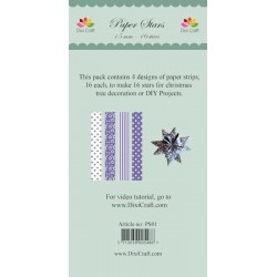 (PS01)DixiCraft Paper Stars strips Lavender