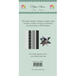 (PS03)DixiCraft Paper Stars strips Black