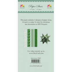 (PS05)DixiCraft Paper Stars strips Green