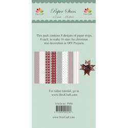 (PS06)DixiCraft Paper Stars strips Mix