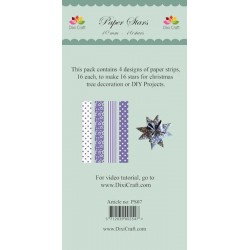 (PS07)DixiCraft Paper Stars strips small Lavender