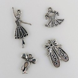 (CHARM002)Nellie Snellen Metal Charms - Girl
