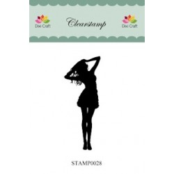 (STAMP0028)Dixi Clear Stamp dame
