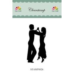 (STAMP0026)Dixi Clear Stamp danspaar