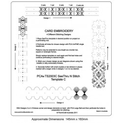 (PCA-TS2003C)See Thru N Stitch Card Embroidery C
