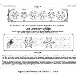 (PCA-TS2007C)See Thru N Stitch Snowflake Borders Bar