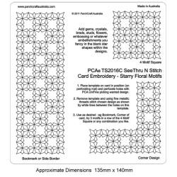 (PCA-TS2016C)See Thru N Stitch Starry Floral Motifs