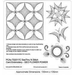 (PCA-TS2017C)See Thru N Stitch Geo Flower Power