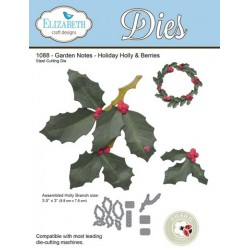 (SKU1088)Elizabeth Craft Design Die Garden Notes - Holidayholly&