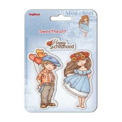 (SCB4907005B)ScrapBerry's Clear Stamps Sweetheart No. 2