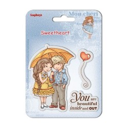 (SCB4907004B)ScrapBerry's Clear Stamps Sweetheart No. 1