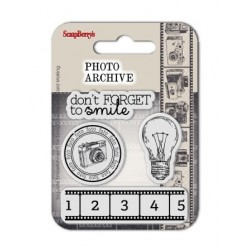 (SCB4907013B)ScrapBerry's Clear Stamps Photo Archive No. 3