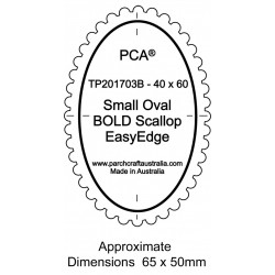 (PCA-TP201703)BOLD Small Oval Outside Bold Scallop EasyEdge