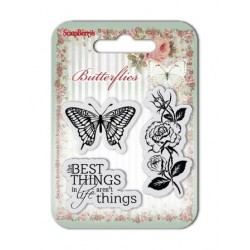 (SCB4907001B)ScrapBerry's Clear Stamps Butterflies No. 1