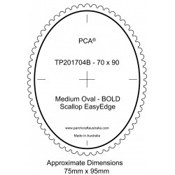 (PCA-TP201704)BOLD Medium Oval Outside Bold Scallop EasyEdge