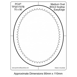 (PCA-TP201707)BOLD Medium Oval Inside Bold Scallop EasyEdge