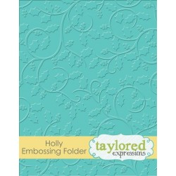 (TEEF38)Taylored Expressions Holly Embossing Folder
