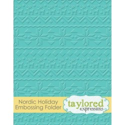 (TEEF37)Taylored Expressions Nordic Holiday Embossing Folder