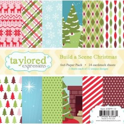 (TEPP112)Taylored Expressions Build a Scene - Christmas 6x6 Pape