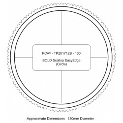 (PCA-TP201712)BOLD 130mm Dia. Circle Outside Bold Scallop EasyEdge